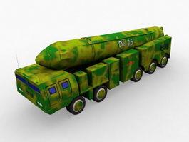 DF-26 Ballistic Missile 3d model