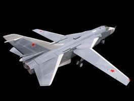 Russian Su-24 Attack Aircraft 3d preview
