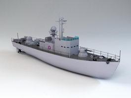 Military Patrol Boat 3d model