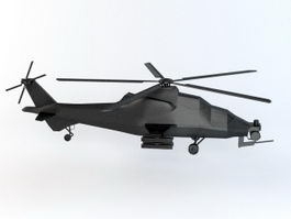 WZ-10 Chinse Attack Helicopter 3d model