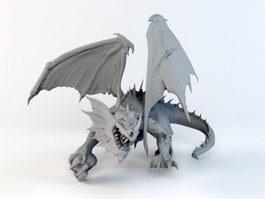 Evil Dragon 3d model