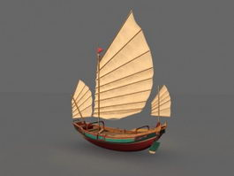 Old World Sailing Ship 3d model
