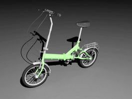 Lady City Bike 3d model