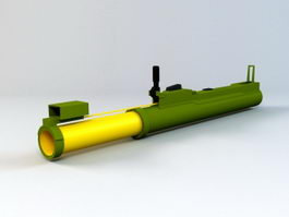 M72 LAW Anti-tank Weapon 3d model