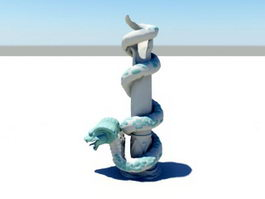 Serpent Column 3d model