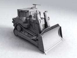 Army Bulldozer 3d model