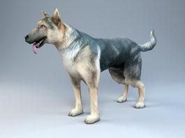 Police Dog 3d model