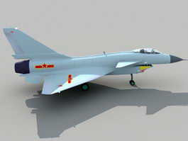 J-10 Vigorous Dragon Chinese Fighter Aircraft 3d model