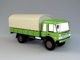 EQ1108 4×2 5 Ton Military Truck 3d model
