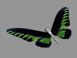 Green Butterfly 3d model