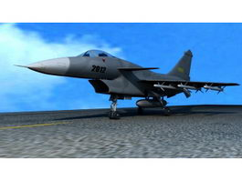 J-10 Fighter Aircraft 3d model