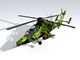 German Army Tiger Helicopter 3d model