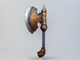 Anime Battleaxe 3d model