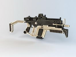Futuristic Automatic Rifle 3d model