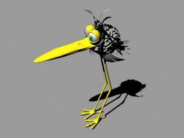 Cartoon Nestling 3d model