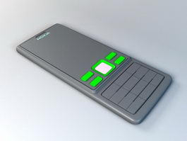 Nokia 6300 Mobile Phone 3d model