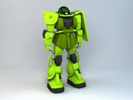 MS-06 Zaku II Gundam 3d model