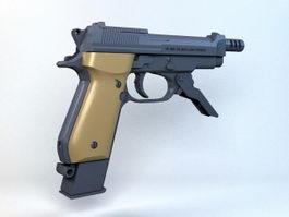 Beretta 93R Machine Pistol 3d model