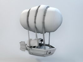 Steampunk Airship 3d model