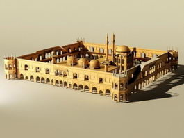 Arabian Castle Buildings 3d model
