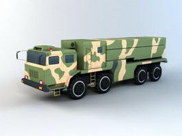 Missile Launcher Vehicle 3d model