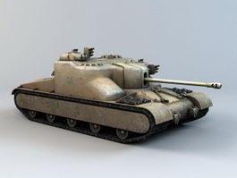 At 15A Tank Destroyer 3d model