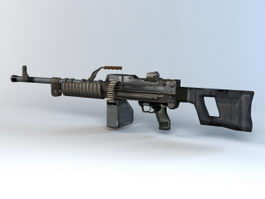 QJY-88 Light Machine Gun 3d model