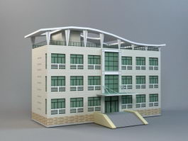 Small Modern Office Building 3d model