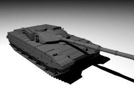 Army Tank Black 3d model