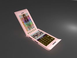 Pink Cell Phone 3d model