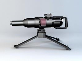 Electromagnetic Machine Gun 3d model