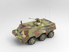 WZ-551 Wheeled Armored Personnel Carrier 3d model