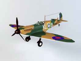 Spitfire Mk1 Fighter 3d model