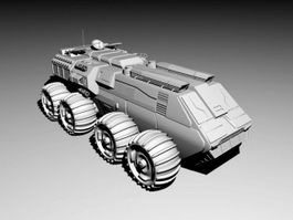 Futuristic Infantry Fighting Vehicle 3d model