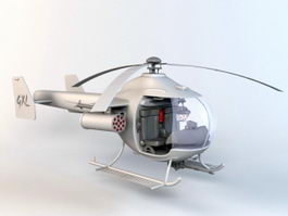 Tiny Military Helicopter 3d model