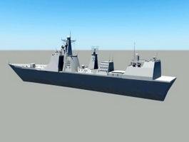Modern Warship 3d model