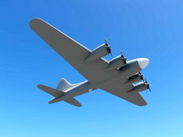 B-17 Heavy Bomber 3d model