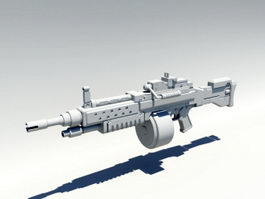 Army Machine Gun 3d model