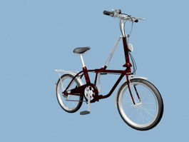 Womens City Bike 3d model
