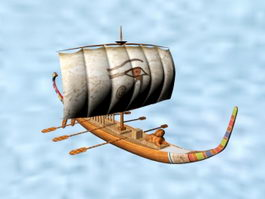 Ancient Egypt Ship 3d model