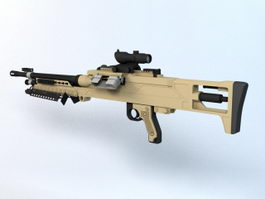 Barrett M240LW Machine Gun 3d model