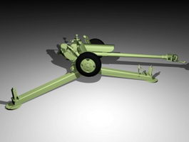 Type 85 Artillery Gun 3d model