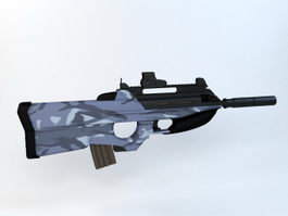F2000 Tactical Assault Rifle 3d model
