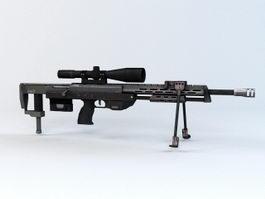 DSR Sniper Rifle 3d model