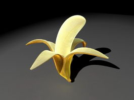 Half Peeled Banana 3d model