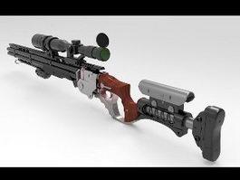 Steampunk Sniper Rifle 3d preview