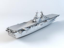 USS Wasp Amphibious Assault Ship 3d model