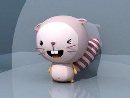 Cute Cartoon Beaver 3d model