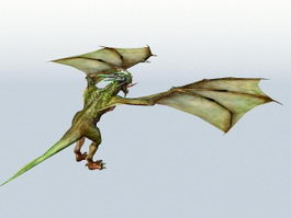 Green Drake Creature 3d model