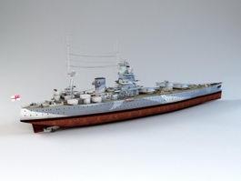 Nelson-class Battleship 3d model